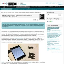 Evaluer sans notes ! dispositifs numériques et utilisation des résultats