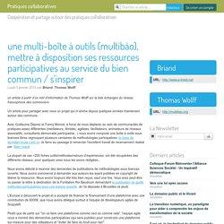 une multi-boîte à outils (multibào), mettre à disposition ses ressources