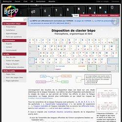 Disposition de clavier francophone et ergonomique bépo