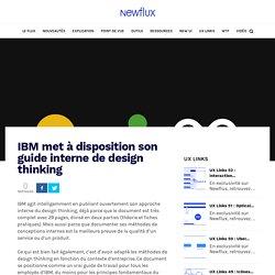 IBM met à disposition son guide interne de design thinking