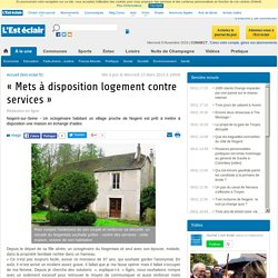 « Exemple: logement contre services »