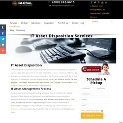 IT Asset Disposition Los Angeles, IT Asset Management Services San Diego