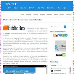 Mettre à disposition des ressources avec une BiblioBox – DocTICE