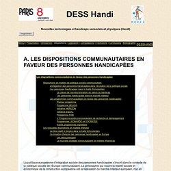 Les dispositions communautaires et les personnes handicapées