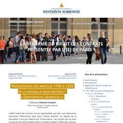 Sous-section «Dispositions générales» de la réforme du droit des contrats (présentation)