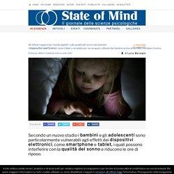 Dispositivi elettronici e qualità del sonno di bambini e adolescenti