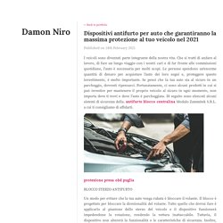 Dispositivi antifurto per auto che garantiranno la massima protezione al tuo veicolo nel 2021