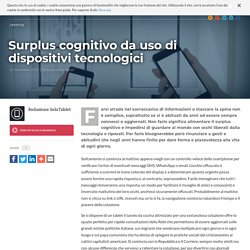 Surplus cognitivo da uso di dispositivi tecnologici — SoloTablet