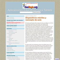 Dispositivos móviles y concepto de aula - Aplicaciones Educativas para Tablets