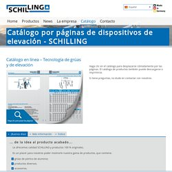 Catálogo por páginas de dispositivos de elevación - SCHILLING: