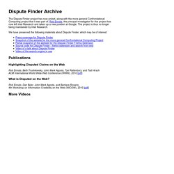Dispute Finder Archive