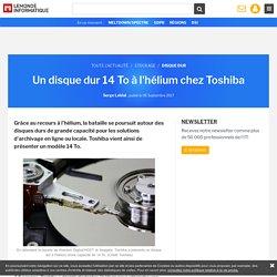 Un disque dur 14 To à l'hélium chez Toshiba