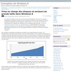Prise en charge des disques et secteurs de grande taille dans Windows8 - Conception de Windows8