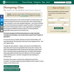 "BOOK ""Disrupting Class"""