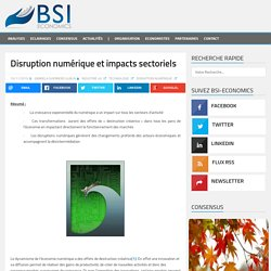 Disruption numérique et impacts sectoriels