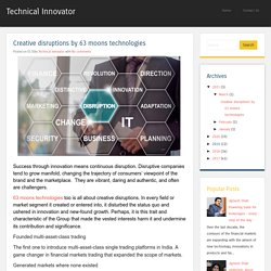 Creative disruptions by 63 moons technologies ~ Technical Innovator