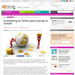 Le marketing sur Twitter passe aussi par le caritatif