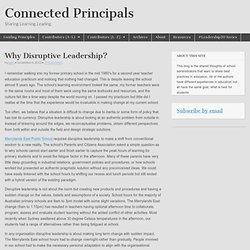 Why Disruptive Leadership?