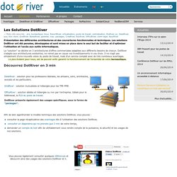 Les Solutions DotRiver — DotRiver, disruptive desktop technology