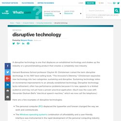 What is disruptive technology