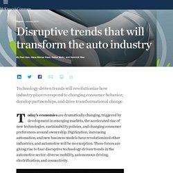 Disruptive trends that will transform the auto industry