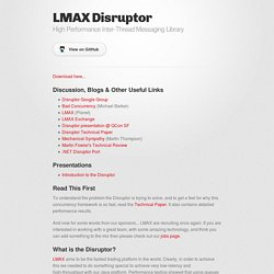 Disruptor by LMAX-Exchange