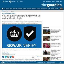Gov.uk quietly disrupts the problem of online identity login