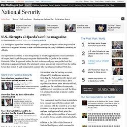 U.S. disrupts al-Qaeda's online magazine