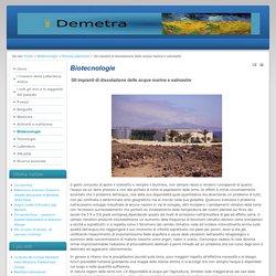 Gli impianti di dissalazione delle acque marine e salmastre