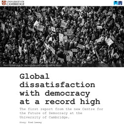 Global dissatisfaction with democracy at a record high