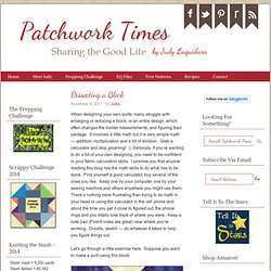 Dissecting a Block — Patchwork Times by Judy Laquidara