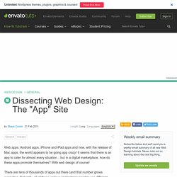 Dissecting Web Design: The App Site