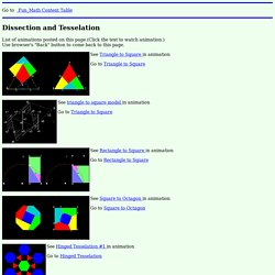 Dissection and Tesselation