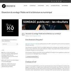 Dissection du sondage 'Publie.net & la littérature au numérique'