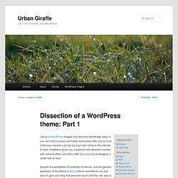 Dissection of a WordPress theme: Part 1