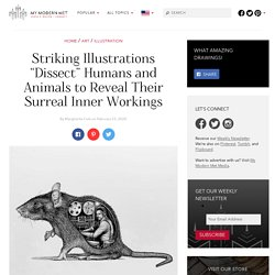 """Artist """"Dissects"""" People and Animals in Series of Striking Illustrations"""
