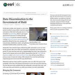 Data Dissemination to the Government of Haiti