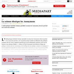 La science dissèque les Anonymous | Mediapart