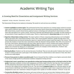 A Growing Need for Dissertation and Assignment Writing Services - Writing Solutions for Students