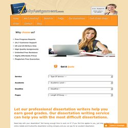Dissertation Help and Writing Services by Ph.D Writers