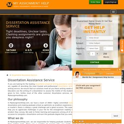 Dissertation Writing Assistance Service in UK