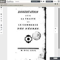Bellon de Saint-Quentin justifie la traite et l'esclavage