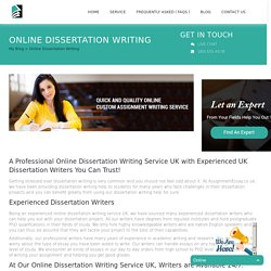 Get Best Dissertation Eriting Help by Expert Consultants