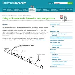 Doing a Dissertation in Economics – help and guidance - Studying Economics
