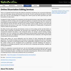 Online Dissertation Editing Services