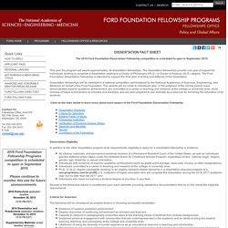Dissertation Fact Sheet