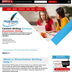 Dissertation Writing Help Extra Features with quality of material