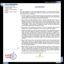Préparer la dissertation littéraire - Introduction