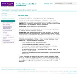 Dissertation Introductions