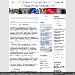 La dissertation juridique (Méthodologie) : Le site de François-Xavier ROUX DEMARE